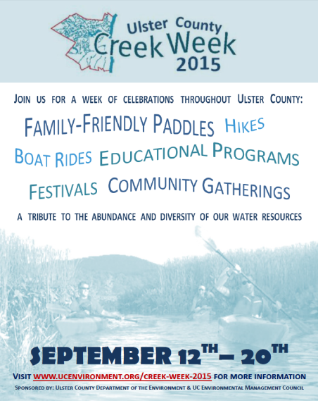 Creek Week 2015 Event Flyer