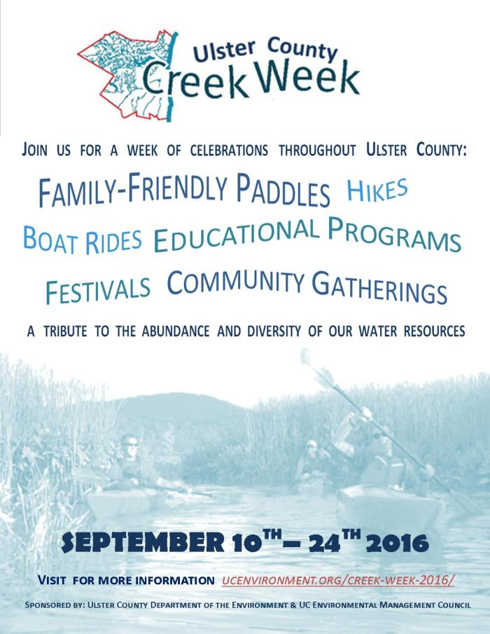 Ulster County Creek Week  2015_Event Flyer